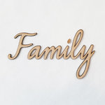Foundations Decor - Wood Crafts - Connected Words - Family - Smooth Font