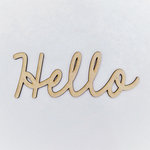 Foundations Decor - Wood Crafts - Connected Words - Hello - Smooth Font