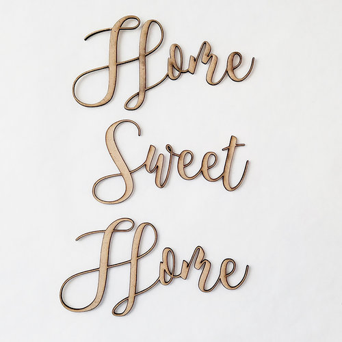 Foundations Decor - Wood Crafts - Connected Words - Home Sweet Home - Script Font