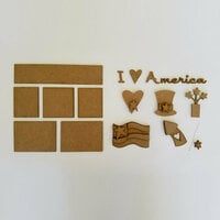 Foundations Decor - I Love America Kit for Shadow Box