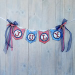 Foundations Decor - 4th of July Collection - Wood Crafts - July Banner