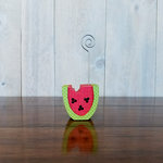 Foundations Decor - Wood Crafts - Place Card Holder - Watermelon