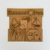 Foundations Decor - Summer Fun Kit for Shadow Box