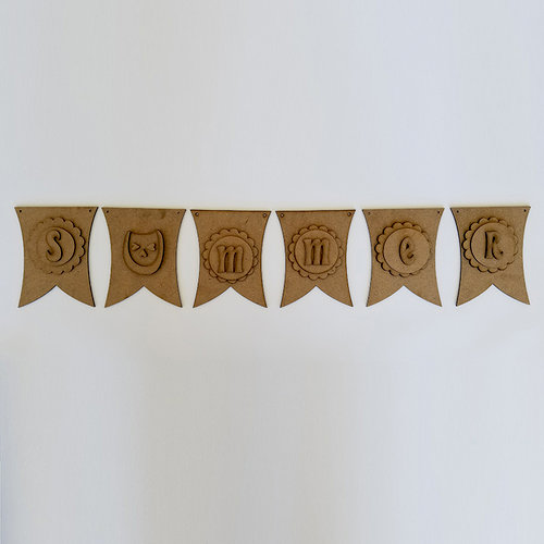 Foundations Decor - Summer Collection - Wood Crafts - Summer Banner