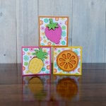 Foundations Decor - Summer Collection - Wood Crafts - Summer Blocks