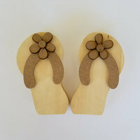 Foundations Decor - Summer Collection - Wood Crafts - Flip Flops