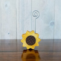 Foundations Decor - Wood Crafts - Place Card Holder - Sunflower