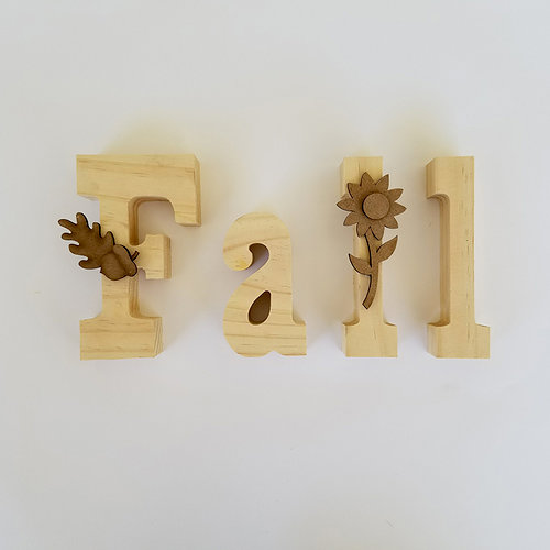Foundations Decor - Autumn Collection - Wood Crafts - Fall