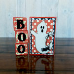 Foundations Decor - Halloween Collection - Wood Crafts - Boo Blocks