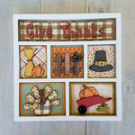 Foundations Decor - Thanksgiving Kit for Shadow Box
