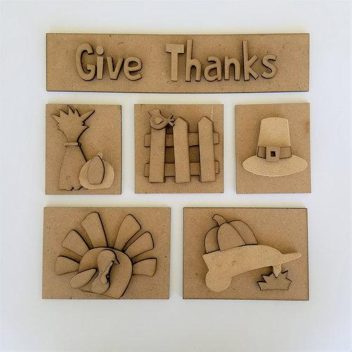 Foundations Decor - Thanksgiving Kit for Shadow Box