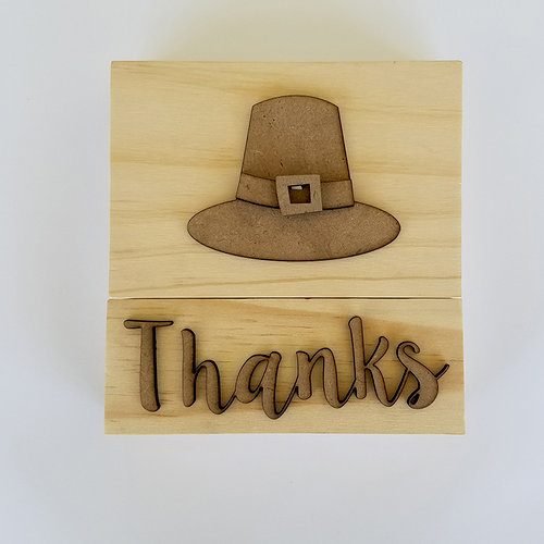 Foundations Decor - Thanksgiving Collection - Wood Crafts - Thanksgiving Blocks