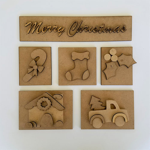 Foundations Decor - Christmas Kit for Shadow Box