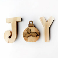 Foundations Decor - Christmas - Wood Crafts - JOY with Ornament