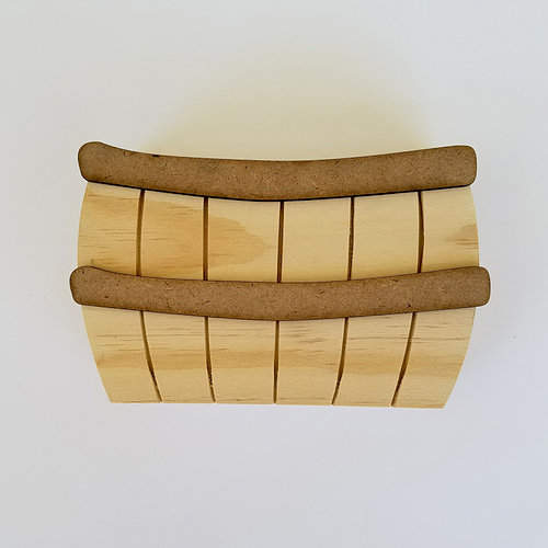 Foundations Decor - Wood Crafts - Barrel with Bands