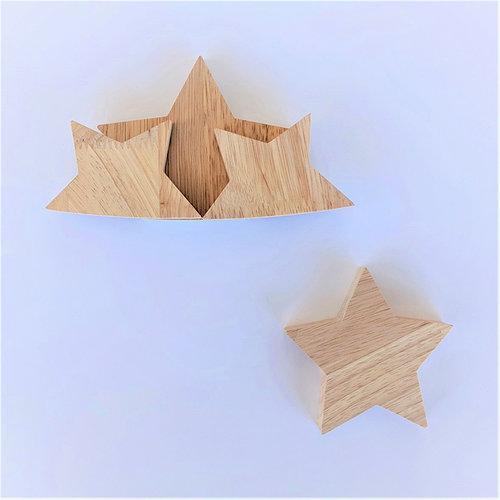 Foundations Decor - Wood Crafts - Barrel - Monthly Insert - July Mini Stars