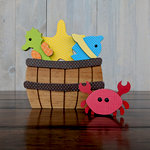 Foundations Decor - Wood Crafts - Barrel - Monthly Insert - August Sea Creatures