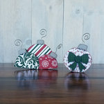 Foundations Decor - Christmas - Wood Crafts - Barrel - Monthly Insert - December Ornaments