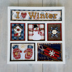 Foundations Decor - I heart Winter Shadow Box Kit