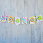 Foundations Decor - Easter Collection - Wood Crafts - Easter Banner with Eggs