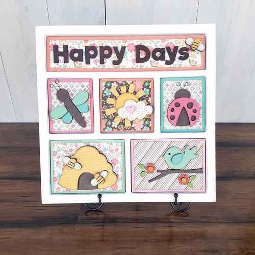 Foundations Decor - Happy Days Kit for Shadow Box