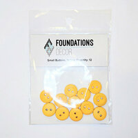Foundations Decor - Buttons - Small - Yellow