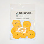 Foundations Decor - Buttons - Large - Yellow