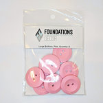 Foundations Decor - Buttons - Large - Pink