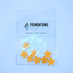 Foundations Decor - Buttons - Yellow Star