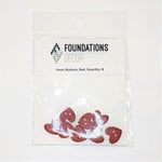 Foundations Decor - Buttons - Red Heart