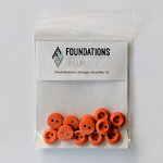 Foundations Decor - Buttons - Small - Orange