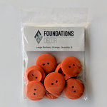 Foundations Decor - Buttons - Large - Orange