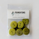 Foundations Decor - Buttons - Large - Green