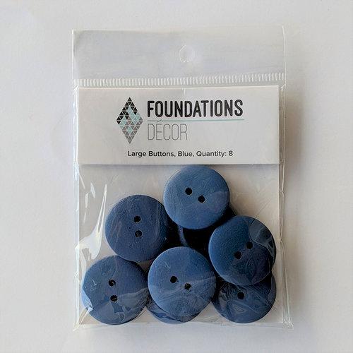 Foundations Decor - Buttons - Large - Blue
