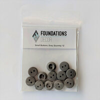 Foundations Decor - Buttons - Small - Gray