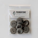 Foundations Decor - Buttons - Large - Gray