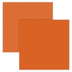 Foundations Decor - 12 x 12 Double Sided Paper - Plaid and Dots - Orange