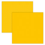 Foundations Decor - 12 x 12 Double Sided Paper - Plaid and Dots - Yellow