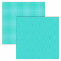 Foundations Decor - 12 x 12 Double Sided Paper - Plaid and Dots - Teal