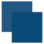 Foundations Decor - 12 x 12 Double Sided Paper - Plaid and Dots - Blue