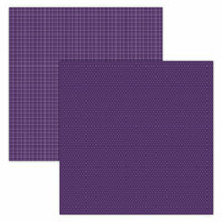 Foundations Decor - 12 x 12 Double Sided Paper - Plaid and Dots - Purple