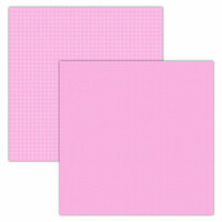 Foundations Decor - 12 x 12 Double Sided Paper - Plaid and Dots - Pink