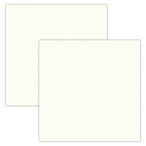 Foundations Decor - 12 x 12 Double Sided Paper - Plaid and Dots - Cream