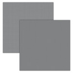Foundations Decor - 12 x 12 Double Sided Paper - Plaid and Dots - Grey
