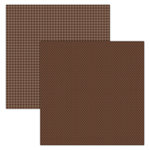 Foundations Decor - 12 x 12 Double Sided Paper - Plaid and Dots - Brown