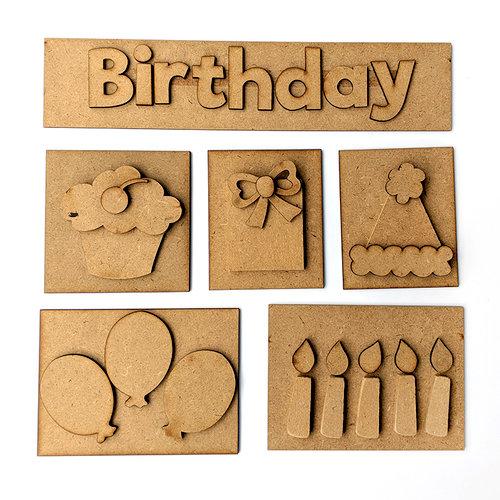 Foundations Decor - Birthday Kit for Shadow Box
