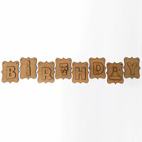 Foundations Decor - Wood Crafts - Birthday Banner