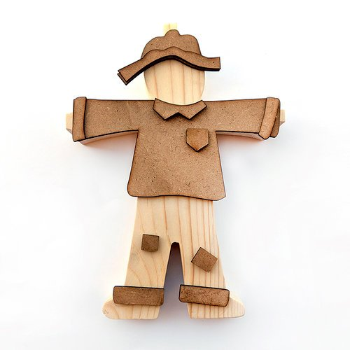 Foundations Decor - Wood Crafts - Scarecrow