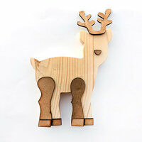 Foundations Decor - Christmas - Wood Crafts - Reindeer