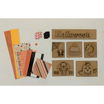 Foundations Decor - Halloween Kit with Paper for Shadow Box